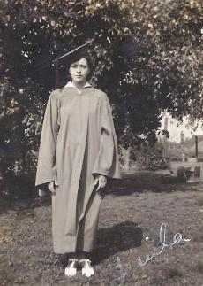 Twila HS cap &  gown